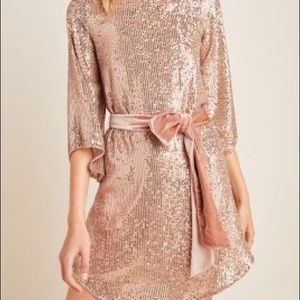 ANTHROPOLOGIE Starling Sequined Tunic - M